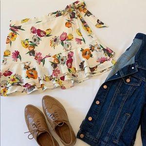 Zara Ruffled Mini Skater Skirt